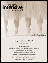 2018 Ballet Intensive